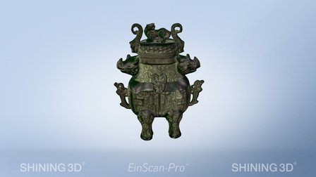 Bronze vessels by #EinScan-Pro 3D Scanner 3D Model