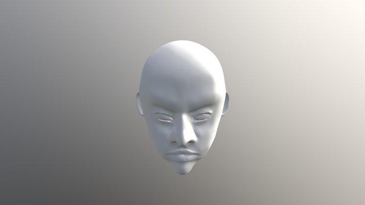 Live model head anger 3D Model