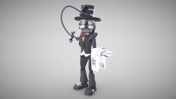 Mr V. Sprocket - Robot Butler 3D Model