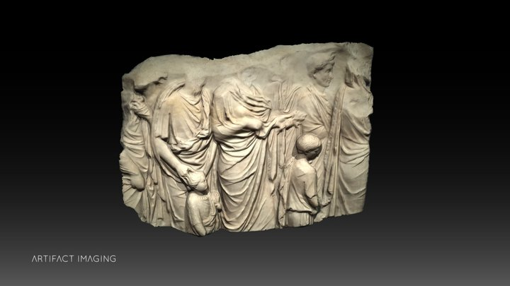 Fragment from the Ara Pacis Augustae 3D Model