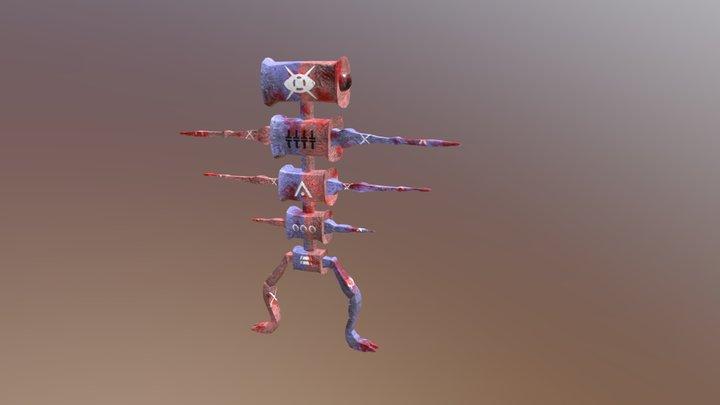 Alt_Mr.Buggy Cartoon Creature 3D Model