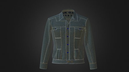 Denim-Jacket 3D Model