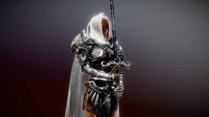 Female Knight 3D Model