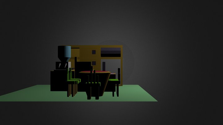 Kitchen Set 1 3D Model