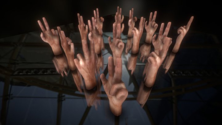 Animated Hands (Test) 3D Model