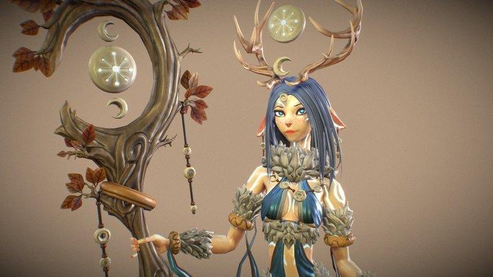 Skathi, The Winter Guide 3D Model