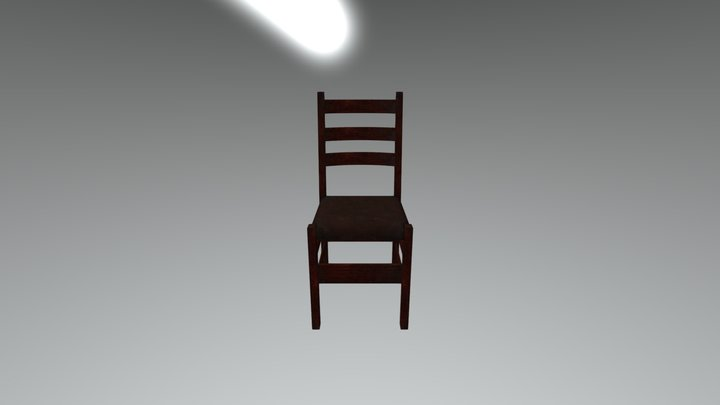 Wooden Chair Redo 02 3D Model