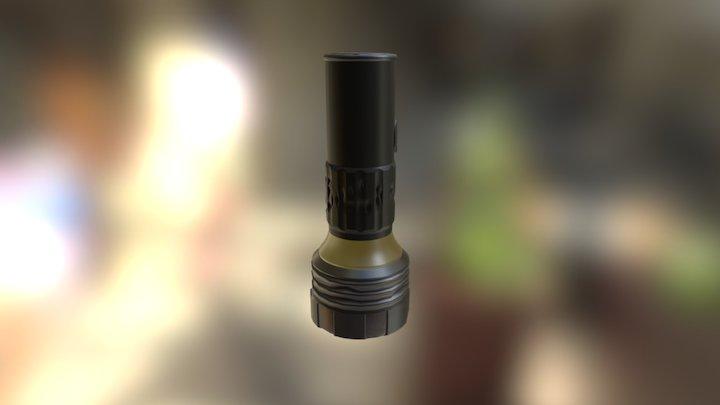 Flashlight Textured 3D Model