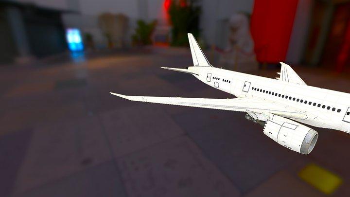 Boeing 787 8 Obj 3D Model