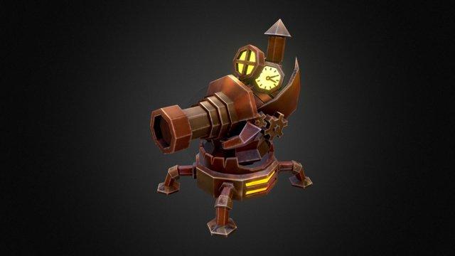 Steampunk Tower 3 3D Model