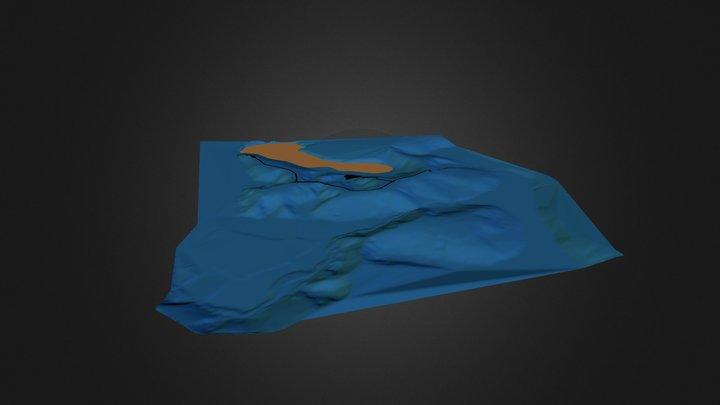 gran viver - lagoa verde - modelo 3D Model