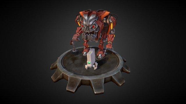 Grumpy old robot and it's pet 3D Model