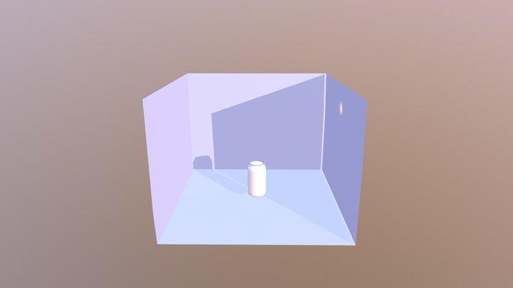 Lata En Espacio 3D Model