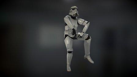 Stormtrooper Animation Gangnam Style 3D Model