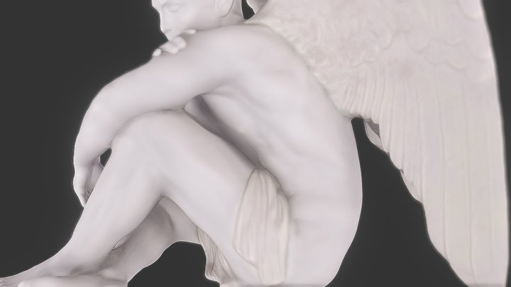 Male Angel sculpture 3D Model