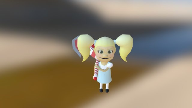 Candy Kane 3D Model