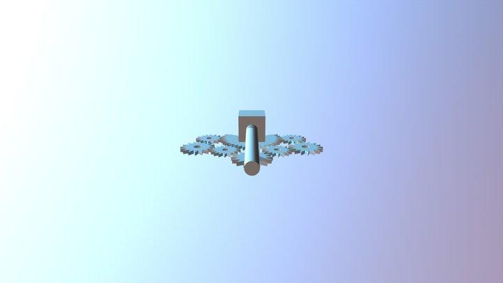 Steeksleutel Voor Boor 3D Model