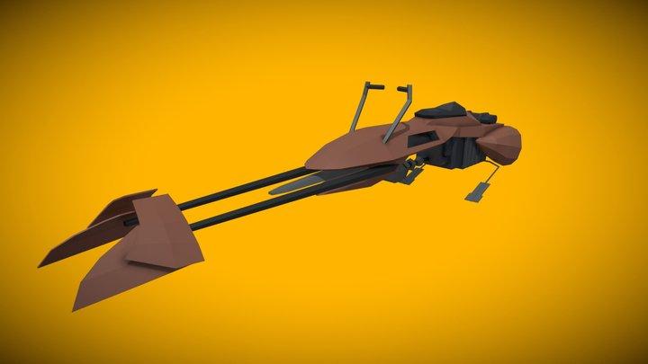 Star Wars - Low Poly Speeder Bike 3D Model