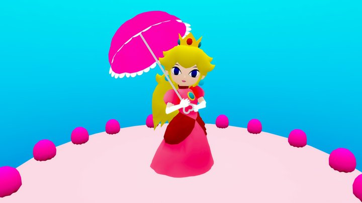 The Legend Of Peach 3D Model
