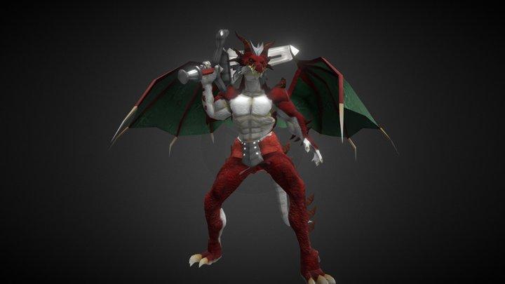 001 - Dragón Fuego 3D Model