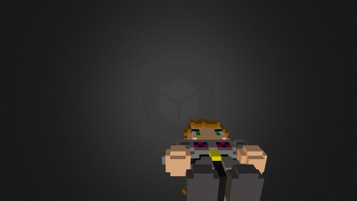 Character Voxel 3D Model