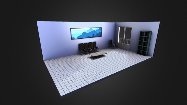 Waiting room 3D Model