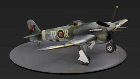 Hawker Typhoon IB 3D Model