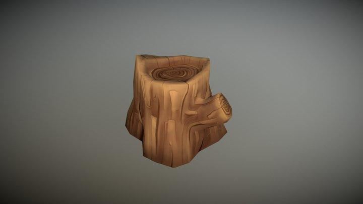 Stylized tree bark 3D Model