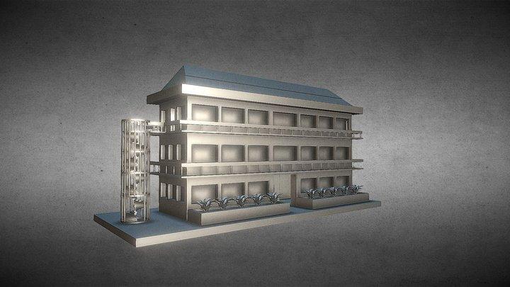 螺旋階段のある建物 3D Model
