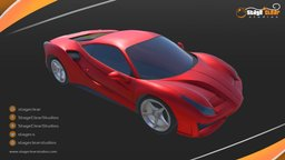 Ferrari Low poly 3D Model