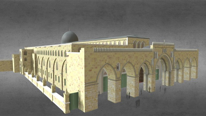 Al Aqsa Mosque, Jerusalem Temple Mount 3D Model