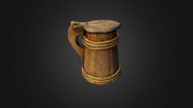Mary Rose: A wooden tankard 3D Model