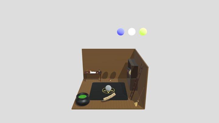 Low Poly Magic scene 3D Model