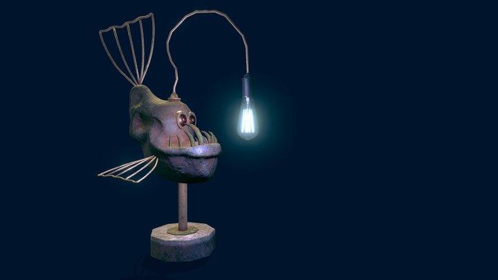 Lowpoly Fish Lamp 3D Model