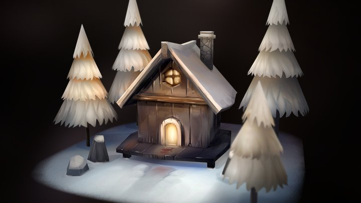 Winter Hut 3D Model