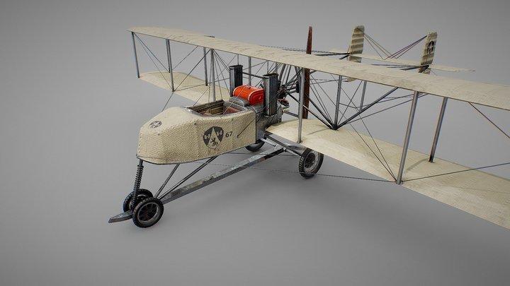 Sanchez Besa 80hp - Biplane recreation 3D Model