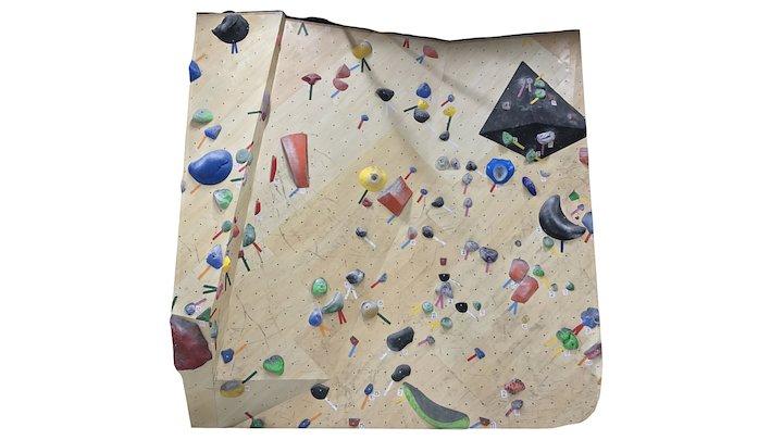 Bare Hands Climbing Gym 3Q 3D Model