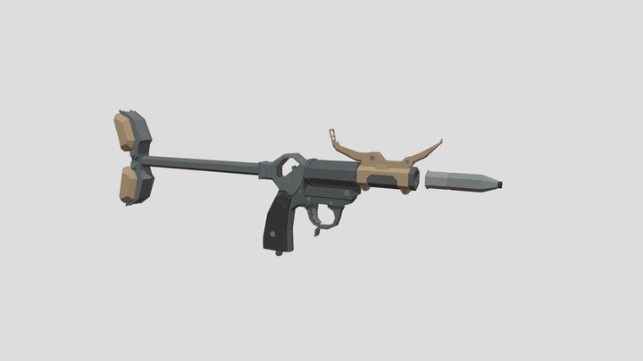 Low-Poly Kampfpistole 34 3D Model