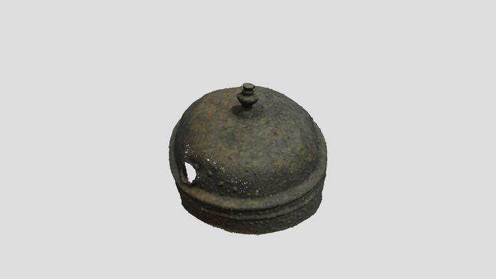 Couvercle en étain (épave ZI24, XVIIIe s.) 3D Model