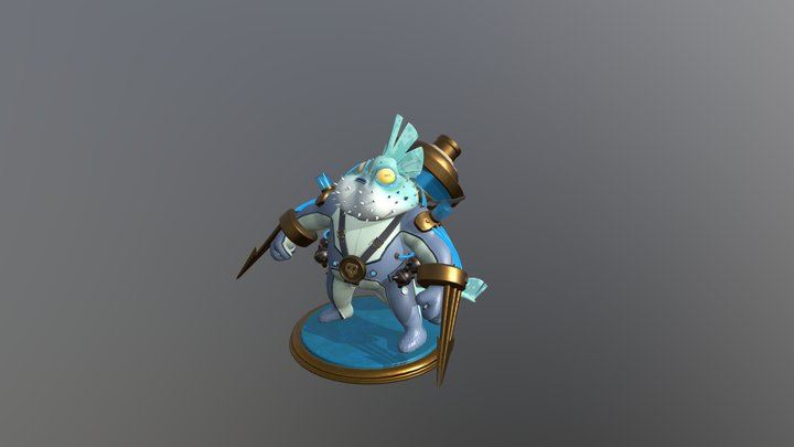 Blowfish Warrior (The Harpoon) 3D Model