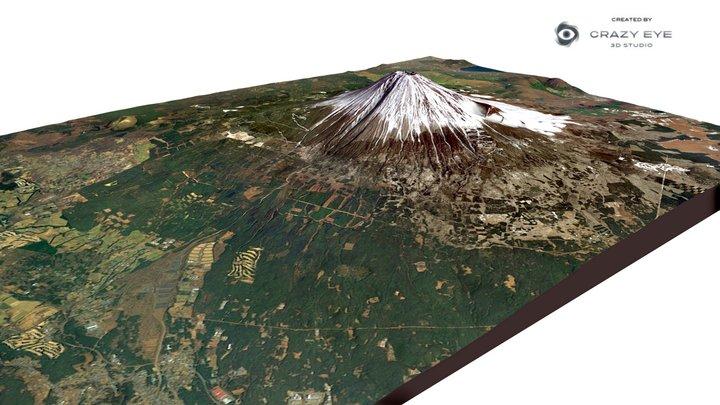Mount Fuji 3D Model