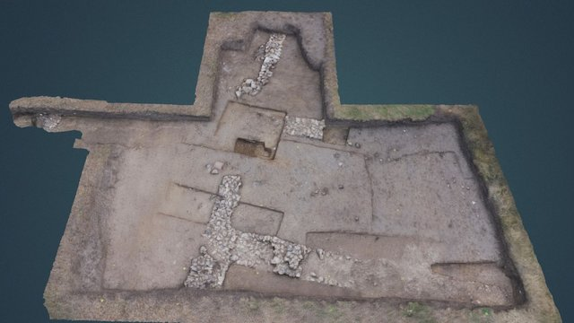 Warblington dig 2014, trench post-excavation 3D Model