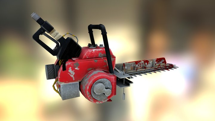 Homemade Chainsaw 3D Model