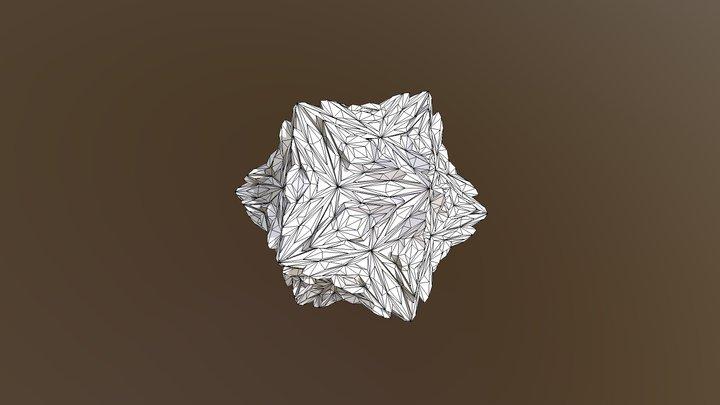 Edge-base subdivided Icosahedron 3D Model