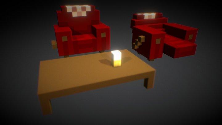 Recliners 3D Model