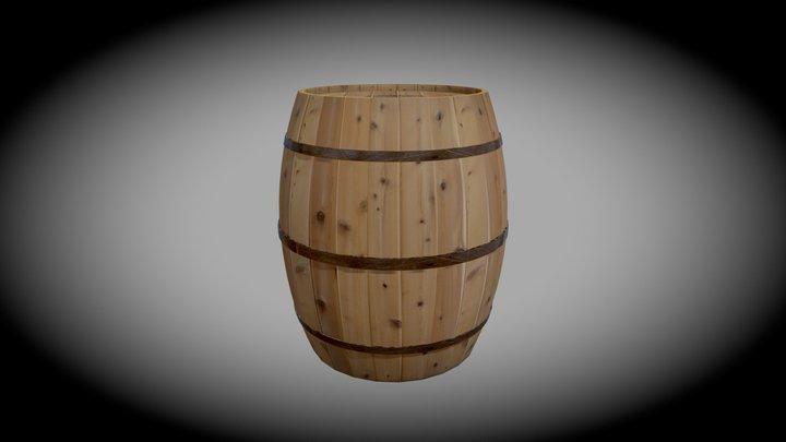 Lone Barrel 3D Model