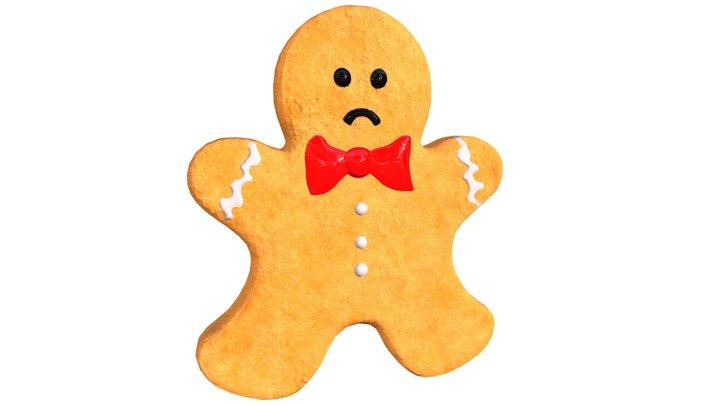 "The Gingerbread Man ""Sad"" (Low Poly) 3D Model"