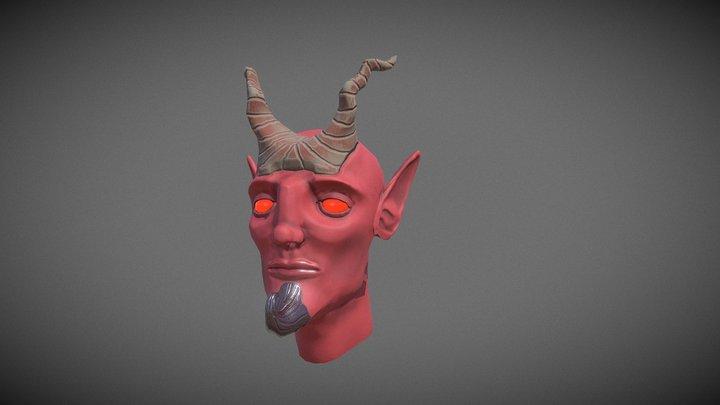 Demon head B2D1 3D Model