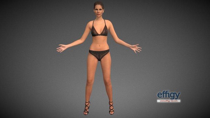 Monica poseA Low Poly 3D Model