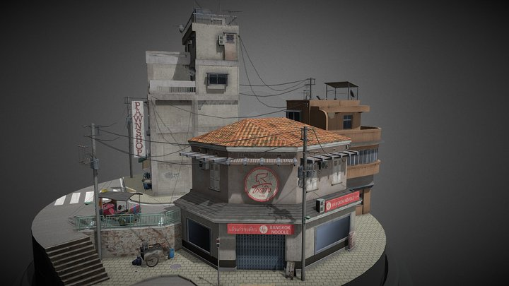 1DAE04 Obeid Mathis City Scene - Bangkok 3D Model